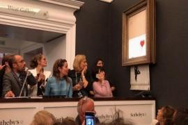 Art diverzija: Benksi uništio rad u trenutku prodaje za milion funti!
